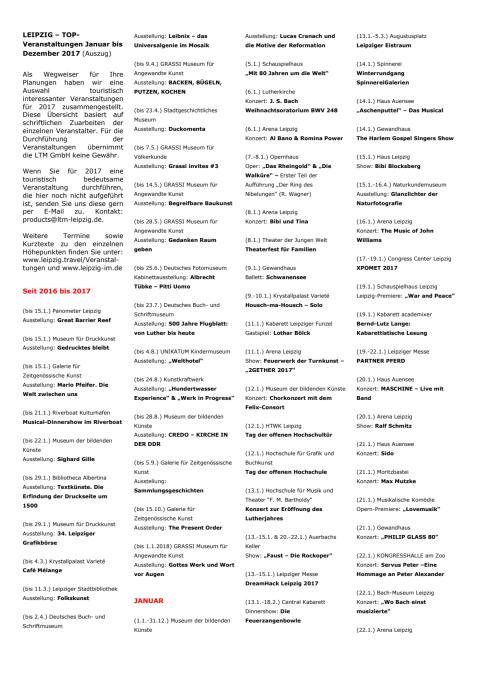 LEIPZIG - 500 TOP-Veranstaltungen_2017 - Kurzübersicht