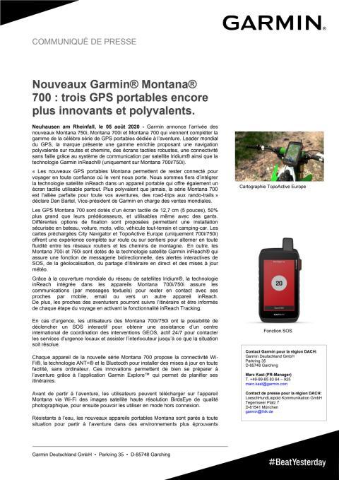 CP Garmin Montana 700