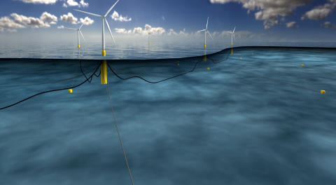 Første flytende vindpark leverer strøm til 20 000 husstander