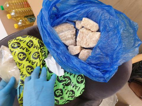 Blocks of suspected drugs