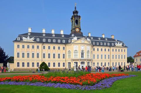 Das Schloss Hubertusburg in Wermsdorf lädt zu einem Konzert der Sommertöne 2018 ein