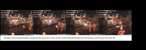 CCTV stills of driving offences at Brickhill Bow