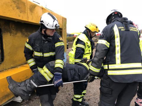 Övning på Brandorama i Helsingborg.