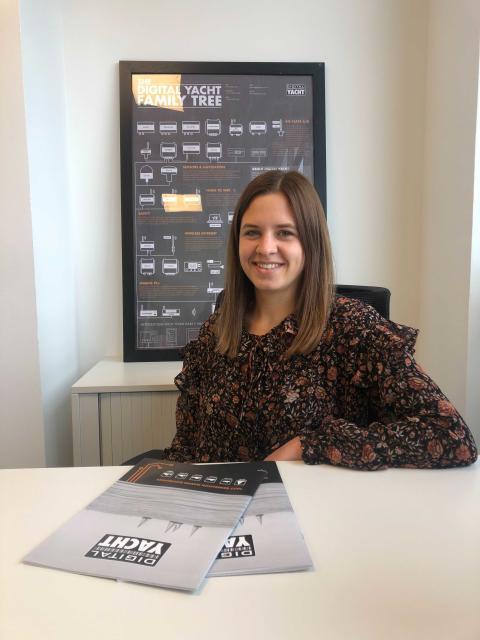 Kira Baumhof an Bord von Digital Yacht Deutschland