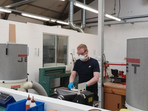 3D printing PPE components at Northumbria University
