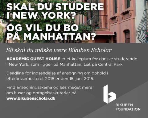 Skal du studere i New York? Så skal du måske være Bikuben Scholar