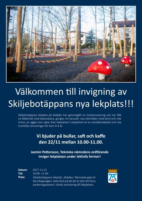 Invigning Skiljebotäppans lekplats