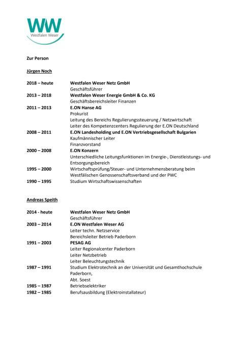 Zur Person: Jürgen Noch und Andreas Speith