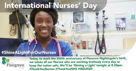 International Nurses' Day 2020 - Shine a Light for our Nurses