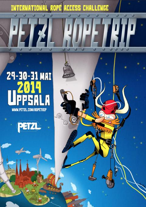 Petzl RopeTrip till Uppsala. Internationell stortävling för professionella reparbetare