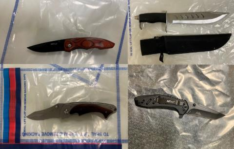 Four recovered knives