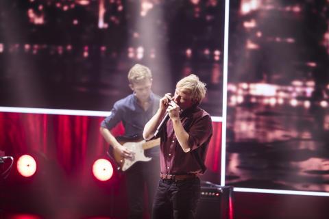 Kronprinsparrets Stjernedrysprismodtager Mathias Heise optrådte under showet med sit band 'Mathias Heise Quadrillion' og nummeret 'Sudden Ascent'