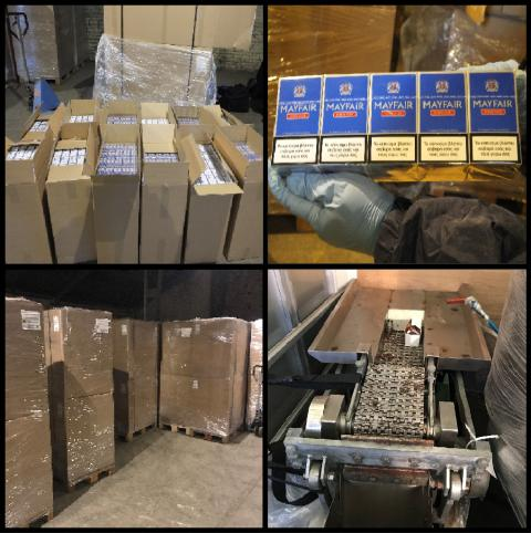 Four million illicit cigarettes uncovered in Glasgow warehouse