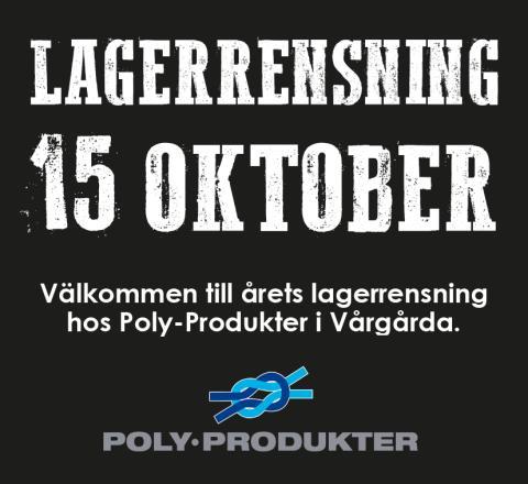 Bild med länk till Evenemangssida Årets lagerrensning 15 oktober