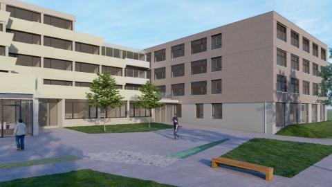 ZÜBLIN errichtet Holzhybrid-Neubau für Pflegeheim Elias-Schrenk-Haus