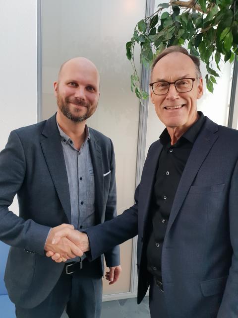 Stefan Norr, Försäljningschef på Visma Commerce och Halldor O Sigurdsson, Chief Executive Officer på Ríkiskaup