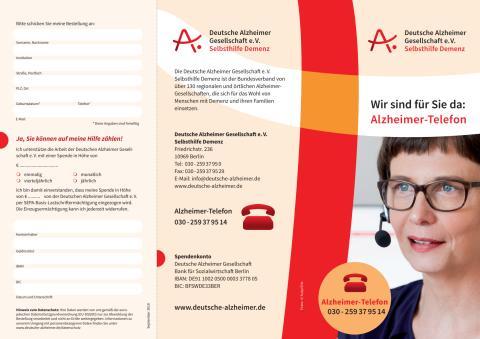 Flyer Alzheimer-Telefon