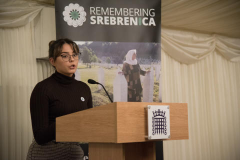 ​Student addresses Westminster event on 'life-changing' Srebrenica visit