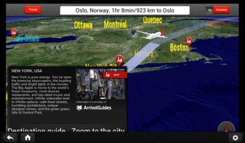 Norwegians underhållningssystem ombord Dreamlinern
