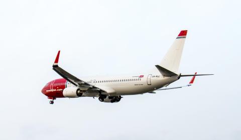 Norwegians allra sista plan av modellen Boeing 737-800 har landat
