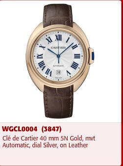 A Cle de Cartier watch stolen