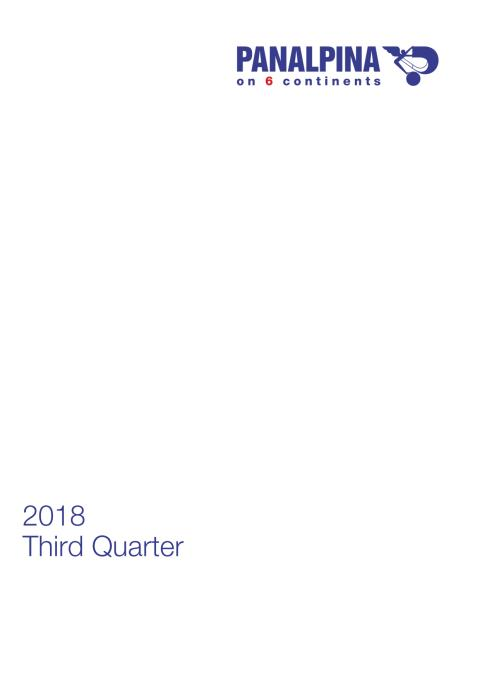 Nine Months Results 2018 – Consolidated Financial Statements
