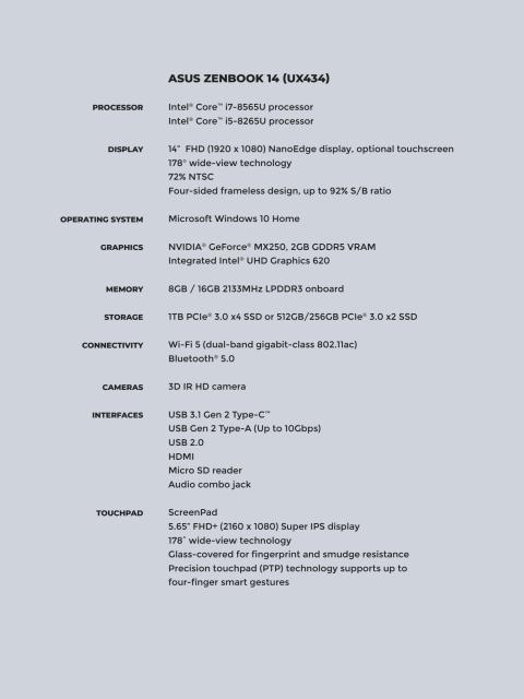 Specification_ZenBook_14_UX434
