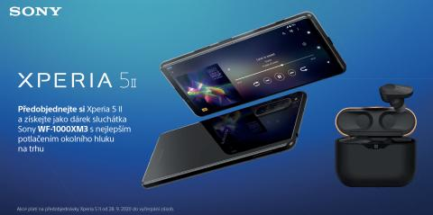 Předobjednejte si smartphone Xperia 5 II a získejte sluchátka Sony WF-1000XM3 jako dárek