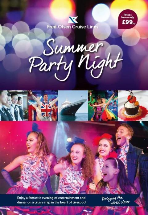 Join the party on Fred. Olsen Cruise Lines' 'Boudicca' this Summer, right in the heart of Liverpool!