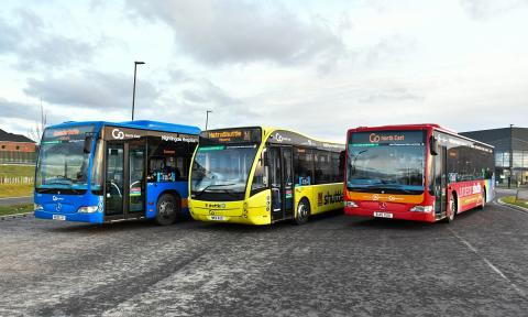 Go North East's vaccination centre shuttle buses