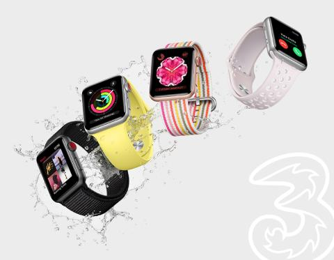 Apple Watch Series 3 (GPS + Cellular) snart hos Tre