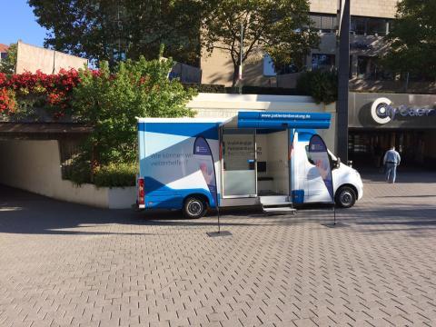 Beratungsmobil der Unabhängigen Patientenberatung kommt am 25. Juni nach Aschaffenburg.