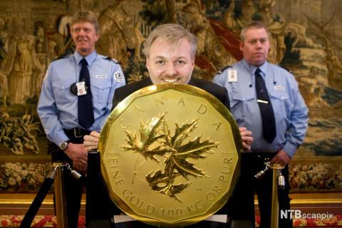 100 kilo gullmynt_fotoNTB Scanpix, Heiko Junge