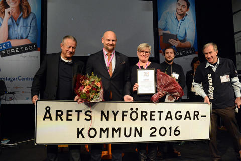 Åtta tävlar om att bli Årets nyföretagarkommun 2017