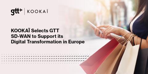 KOOKAÏ väljer GTTs SD-WAN för att stötta den digitala transformationen i Europa