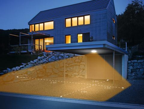 DL Vario Quattro LED:  LED-Decken-Sensorleuchte mit präzise einstellbarer Erfassung