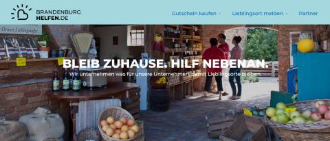 Brandenburg helfen von zu Hause