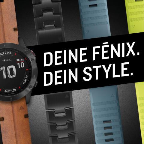 Deine fēnix – dein Style: Individuelle Uhrendesings ab sofort im Garmin Flagship-Store