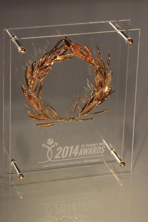 2014 Air Transport News Awards – Norwegian on maailman paras halpalentoyhtiö