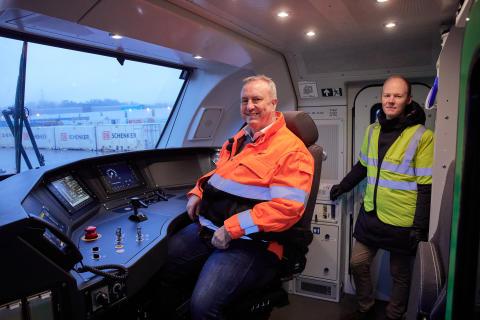 Bengt Fors VD Green Cargo Norge & Godsdirektör på Bane NOR, Oskar Stenstrøm MBR-201209-00892