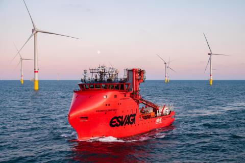'Esvagt Albert Betz' offshore wind farm