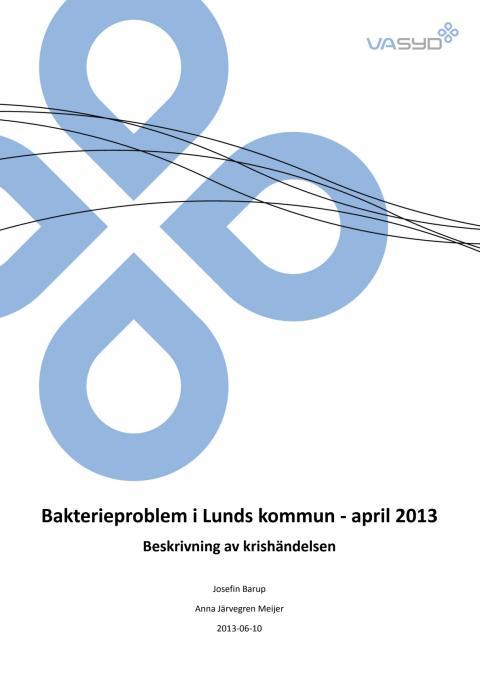 Rapport om kokningsrekommendationen i Lund april 2013