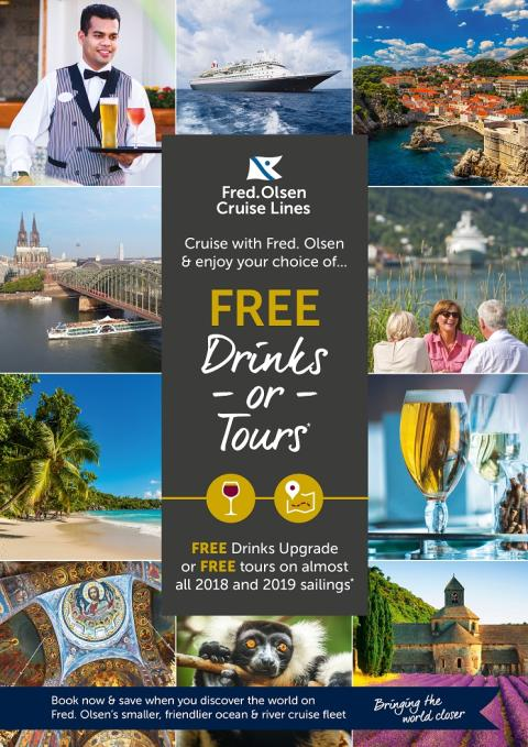 Free drinks or free tours in Fred. Olsen's new 'Cruise Sale'