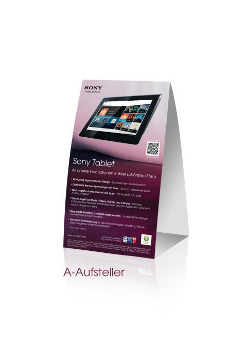 Sony Tablet Kampagne_A-Aufsteller