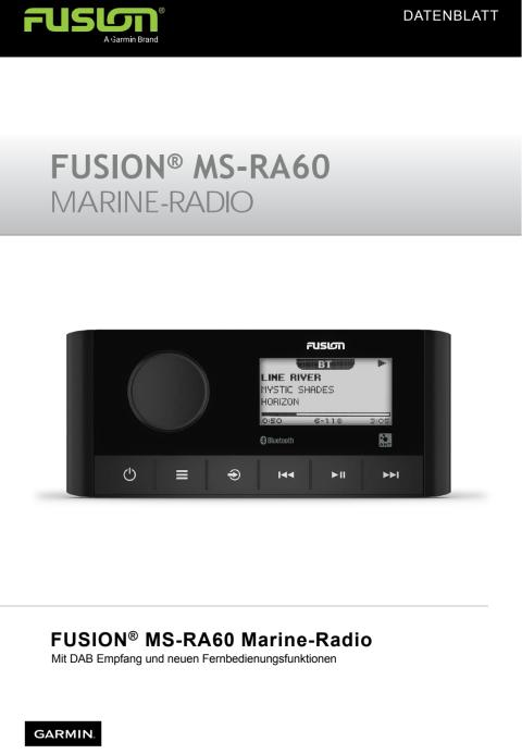 Datenblatt FUSION MS-RA60