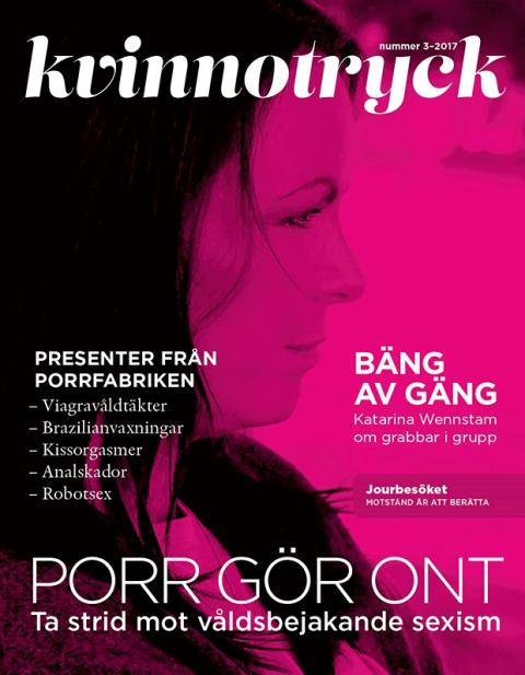 Nytt nummer av Kvinnotryck: Porr gör ont