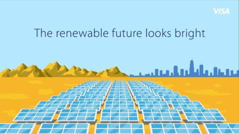 Visa raggiunge l'obiettivo del 100% di energia elettrica da fonti rinnovabili