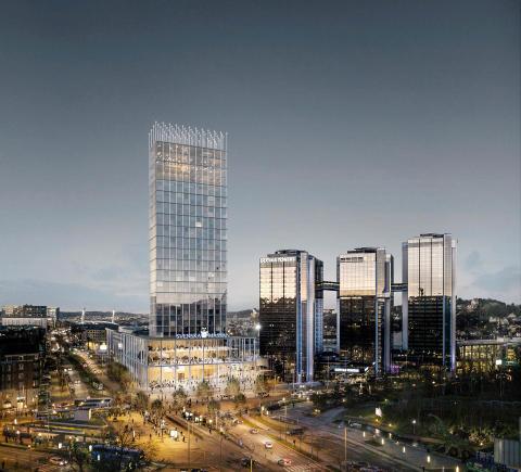 Svenska Mässans gestaltningstävling är avgjord  - Såhär ser vinnande förslaget av fjärde tornet ut