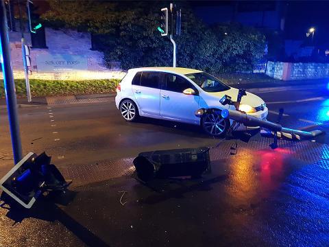 VIDEO: Drink-driver's crash captured on her own dash cam