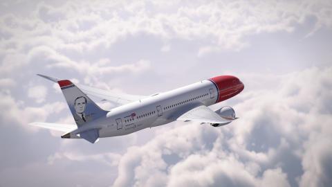 Boeing 787 Dreamliner Joan Miró - renderización.